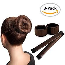 donut hair bun brown magic bun maker 3 pack hair bun tool