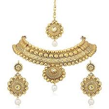 necklace set images Buy meenaz jewellery gold plated kundan pearl traditional necklace jpg