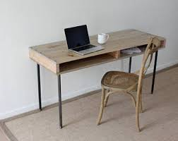 Industrial Writing Desk by Rustic Desk Etsy