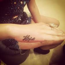 tattoo finger hope want this but faith on one hand and love on the other snap