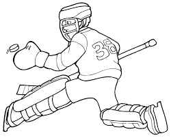 free printable hockey coloring pages kids