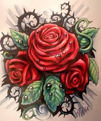 rose with tribal thorns rose reference pinterest rose