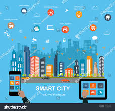 smart city concept different icon elements stock vector 377400466