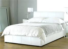 Leather Bed Frame Queen White Bed Frame Smartwedding Co