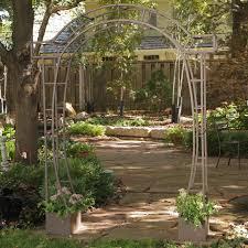Metal Garden Arches And Trellises Garden Garden Arbor With Gate Within Marvelous Wrought Iron