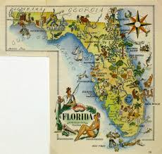 Daytona Florida Map by Florida Pictorial Map 1946