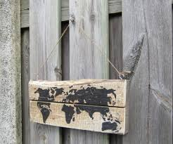World Map On Wood Planks by Pallet World Map 3 Steps