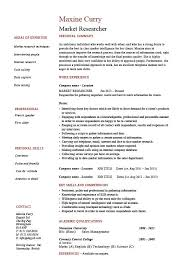 Scientific Resume Examples by Market Research Resume Example Sample Researcher Interview