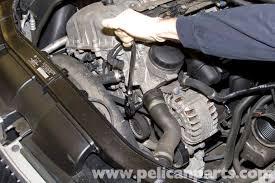bmw 325i alternator bmw e90 drive belt replacement e91 e92 e93 pelican parts diy