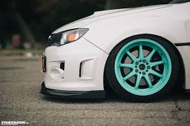 white subaru black rims breaking necks on tiffany u0027s ian u0027s subaru sti
