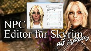 skyrim hair changer skyrim npc editor tutorial für anfänger youtube