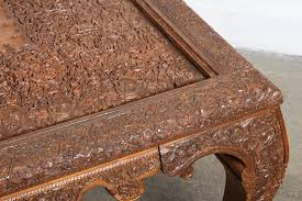 hand carved coffee table anglo indian hand carved coffee table for sale at 1stdibs