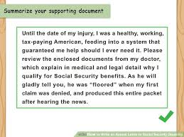 how to write an appeal letter to social security disability with