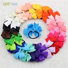 3 grosgrain ribbon 24pcs 3 grosgrain ribbon bow with elastic hair bands girl