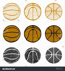 basketball ball free hand dotted texture stock vector 233769214