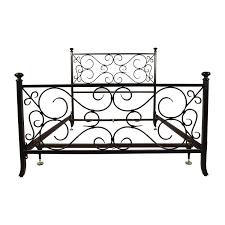 69 off black scrolled metal bed frame beds