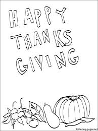 happy thanksgiving coloring coloring pages