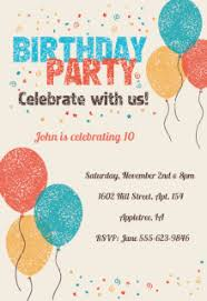 birthday party invitation cards free image collections
