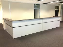 L Shaped Reception Desk Counter Desk Ultra Modern Desks Ultra Modern Offices Office Reception