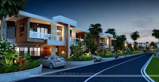Row House Model - 3d power u2013 3d rendering services