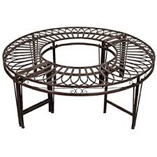 Steel Outdoor Bench Amazon Com Design Toscano Gothic Roundabout Steel Garden Bench