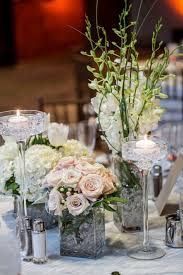 Candle Holders Decorated With Flowers Amusing Picture Of Dining Table Decoration Using White Rose