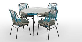 copa dining table cool blue made com