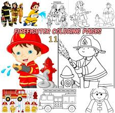 firefighter coloring pages kids printable coloring pages
