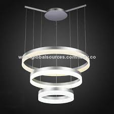 Led Pendant Light Fixtures 3 Tier Ring Led Pendant Light Bright 102w Ce Rohs And