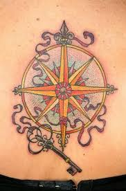 key and compass tattoo design in 2017 real photo pictures