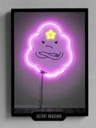 adventure time lumpy space princess neon print printable