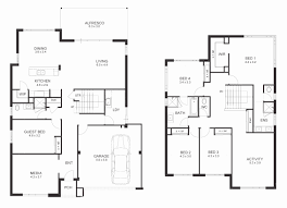 4 bed floor plans 4 bedroom 1 1 2 story house plans awesome 2 story 4 bedroom house