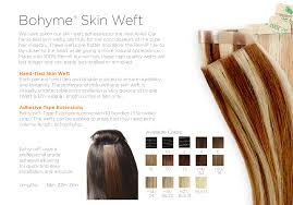 Double Weft Hair Extensions by Tape In Extensions Skin Weft Adhesive Bohyme 100 Remy Human Hair
