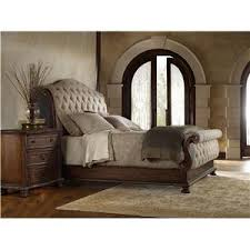 hooker furniture adagio king tufted sleigh bed with upholstered