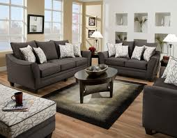 Sofas With Pillows by Simmons Flannel Charcoal Sofa With Pillows Best Home Furniture