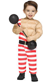 Muscle Man Halloween Costume Carny Muscle Man Toddler Costume Purecostumes