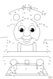 thomas friends dot dot free printable coloring pages