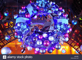 lighted christmas wreath a lighted christmas wreath on a display on the island of