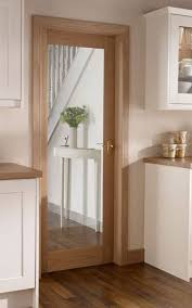 Kitchen Interior Doors Burford Single Panel Oak Glazed Howdens Joinery The Floor