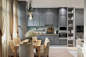 interior designs kitchen stylish mixed style townhouse in moscow suburbs home interior