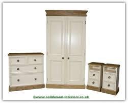 Solid Wood Interiors  Solid Pine Bedroom Furniture Set Waxed And - White pine bedroom furniture set