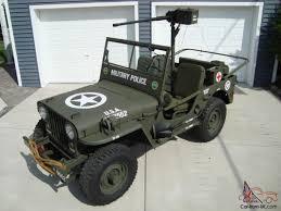 type jeep 1946 cj2a u s army ww2 type military police style jeep w 50 caliber