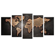 aliexpress com buy 5 pcs set world map printed canvas