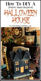 an easy to make pottery barn inspired slightly scary halloween house