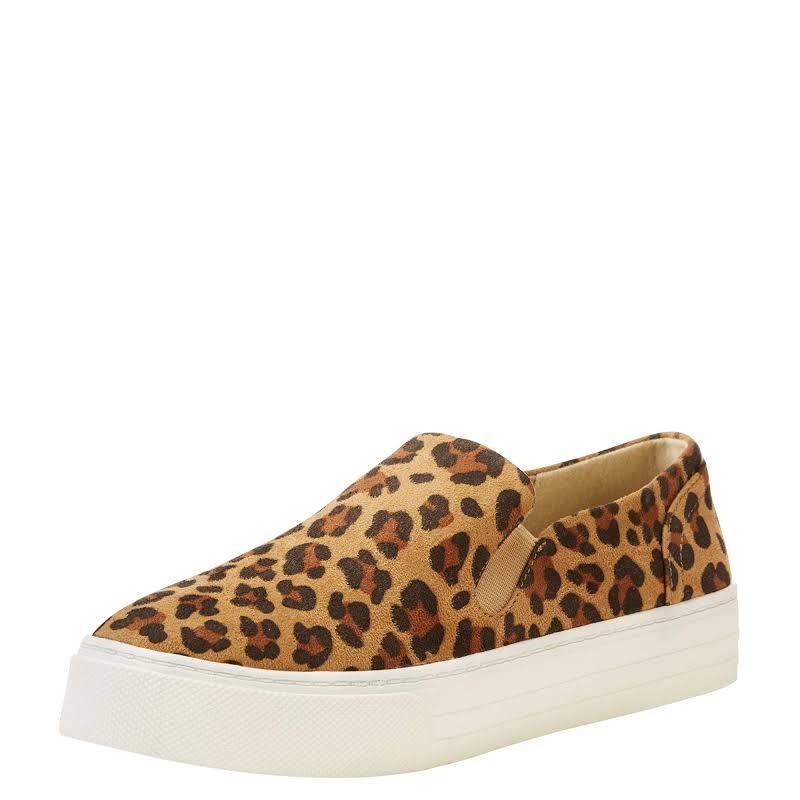Ariat Ladies Unbridled Ace Leopard Brown Suede Shoes 10022994