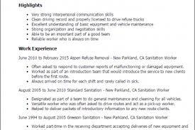 Sanitation Worker Job Description Resume by Auto Worker Cover Letter