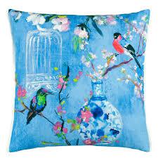 Designer Throw Pillows For Sofa by Designers Guild Istoriato Cobalt Cushion Designers Guild