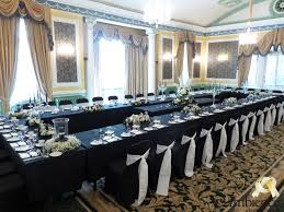black banquet chair covers wedding chair covers business in bradford ambience venue styling