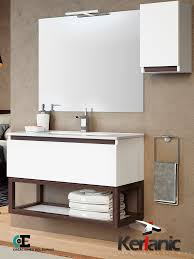 muebles de lavabo mueble de baño tiza 1 cajón 80 cm creaciones espino