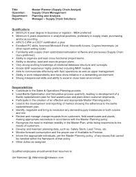 Supply Chain Management Resume Sample by Systems Analyst Resume Sample Examples Resumes Resume Samples For